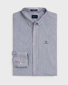 Gant Tech Prep Piqué Stripe Overhemd Persian Blue