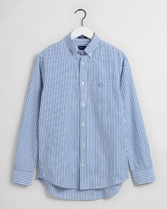 Gant Tech Prep Seersucker Stripe Button Down Overhemd Nautical Blue