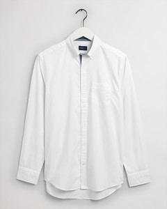 Gant Tech Prep Stretch Oxford Button Down Overhemd Wit