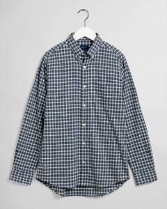 Gant Tech Prep Twill Micro Check Overhemd Bladgroen