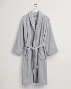 Gant Terry Bathrobe Bio Cotton Nightwear Light Grey