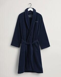 Gant Terry Bathrobe Bio Cotton Nightwear Yankee Blue
