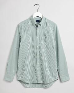 Gant The Broadcloth Banker Stripe Overhemd Bladgroen