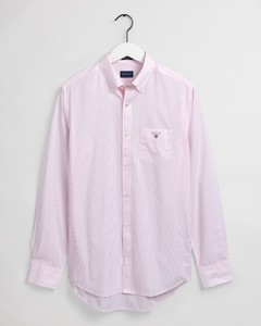 Gant The Broadcloth Banker Stripe Overhemd California Pink