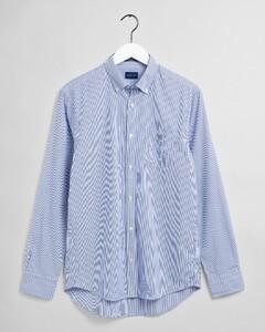 Gant The Broadcloth Banker Stripe Overhemd College Blue
