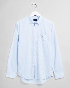 Gant The Broadcloth Banker Stripe Shirt Capri Blue