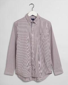 Gant The Broadcloth Banker Stripe Shirt Port Red