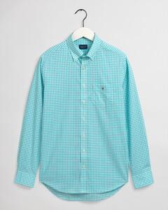 Gant The Broadcloth Gingham Overhemd Aqua Sky