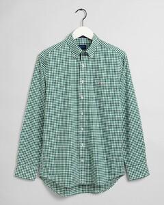 Gant The Broadcloth Gingham Overhemd Bladgroen