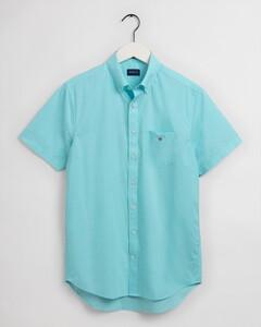 Gant The Broadcloth Short Sleeve Overhemd Aqua Sky