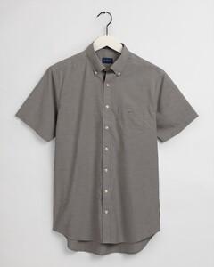 Gant The Broadcloth Short Sleeve Overhemd Dark Leaf