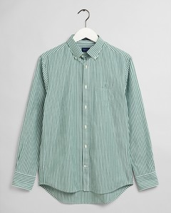 Gant The Broadcloth Stripe Overhemd Bladgroen