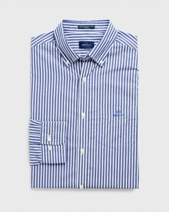 Gant The Broadcloth Stripe Overhemd College Blue