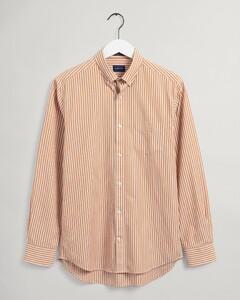 Gant The Broadcloth Stripe Overhemd Dark Mustard Orange