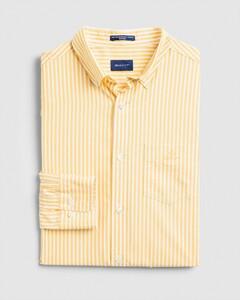 Gant The Broadcloth Stripe Overhemd Mimosa Yellow