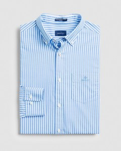 Gant The Broadcloth Stripe Shirt Pacific Blue