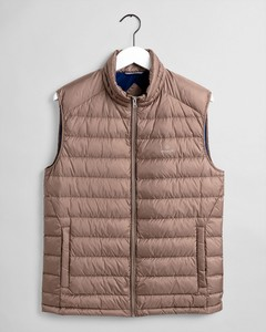 Gant The Light Down Bodywarmer Body-Warmer Midden Bruin