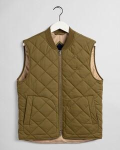 Gant The Light Padded Vest Body-Warmer Olijf Groen