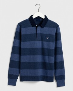 Gant The Original Barstripe Heavy Rugger Pullover Blue Melange