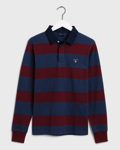 Gant The Original Barstripe Heavy Rugger Pullover Port Red