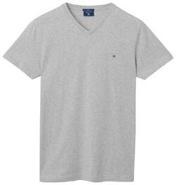 Gant The Original Fitted V-Neck T-Shirt Light Grey