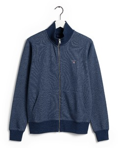 Gant The Original Full Zip Cardigan Vest Blue Melange