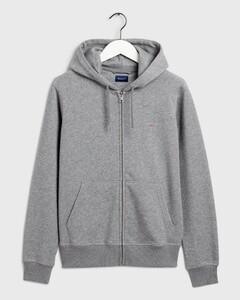 Gant The Original Full Zip Hoodie Vest Dark Grey Melange