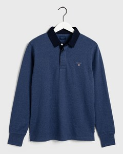 Gant The Original Heavy Rugger Pullover Blue Melange