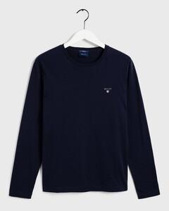 Gant The Original Long Sleeve T-Shirt Avond Blauw