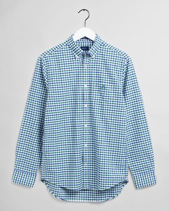 Gant The Oxford 2 Color Gingham Overhemd Bladgroen