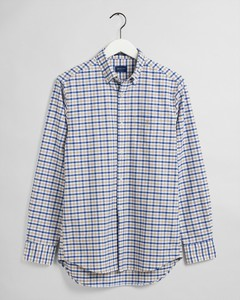Gant The Oxford 2 Color Gingham Overhemd Donker Khaki