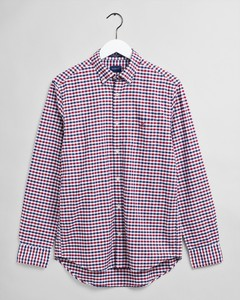 Gant The Oxford 2 Color Gingham Shirt Mahogany Red