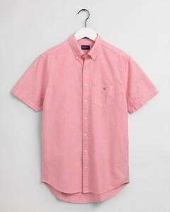 Gant The Oxford Short Sleeve Shirt Overhemd Paradise Pink