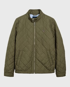 Gant The Quilted Windcheater Jack Deep Lichen Green