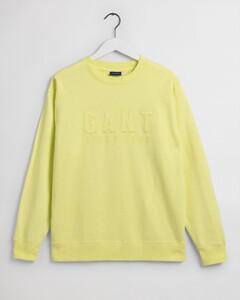 Gant Tonal Logo Sweat C-Neck Trui Sunny Lime