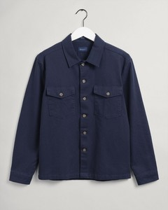 Gant Twill Utility Shirt Overhemd Avond Blauw
