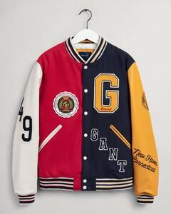 Gant Varsity Badge Rib Details Jack Avond Blauw