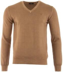 Gant Wassing V-Hals Trui Warm Khaki