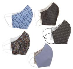 Gardeur 5-Pack Luxe Mondkapjes Mondkapje Multicolor