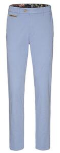 Gardeur Benny-3 Contrasted Pima Cotton Flex Broek Licht Blauw