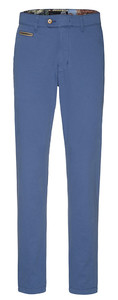 Gardeur Benny-3 Contrasted Pima Cotton Flex Broek Midden Blauw