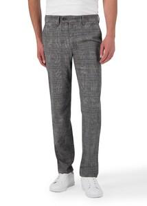 Gardeur Benny-3 Ewoolution Check Pants Grey-Brown