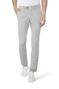 Gardeur Benny-3 Subtle Check Pants Light Grey