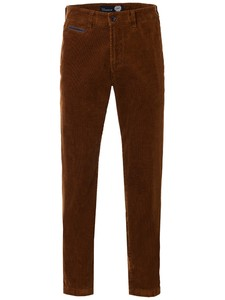 Gardeur Benny-6 Country Cord Stretch Ribbroek Terracotta