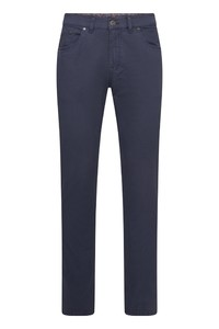 Gardeur Bill-2 Modern Fine Contrast Broek Donker Blauw
