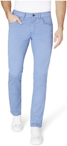 Gardeur Bill-2 Modern Fine Contrast Broek Midden Blauw