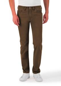 Gardeur Bill-3 3D Two Tone Effect Comfort Stretch Pants Brown