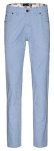 Gardeur Bill 5-Pocket Structure Pants Light Blue