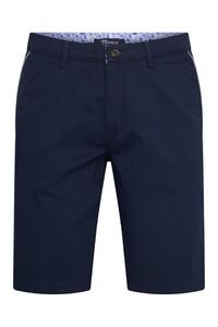 Gardeur Jasper-8 Uni Fine Contrast Bermuda Donker Blauw