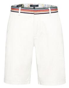 Gardeur Jasper Contrast Waistband Shorts Bermuda White